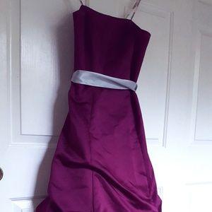 Magenta ballgown strapless